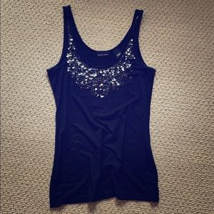 New York and Company Sequin Tank
